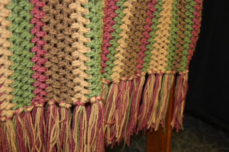 A shawl about making family out of friends