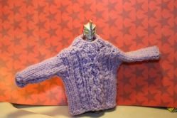 Lavender cableknit sweater