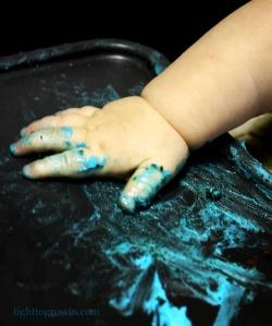 blue icing