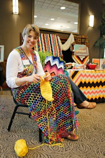 Crochet demo. Photo by Kyle Spradley.