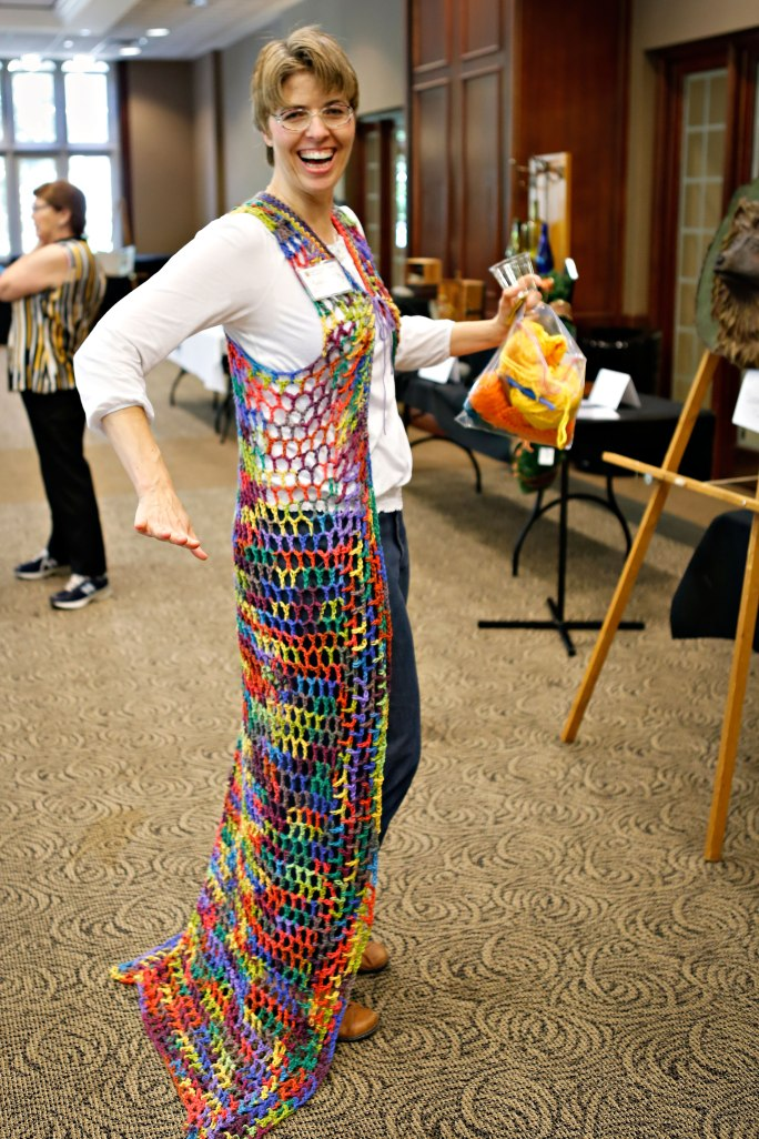 My 70s rainbow vest! Photo by Kyle Spradley.