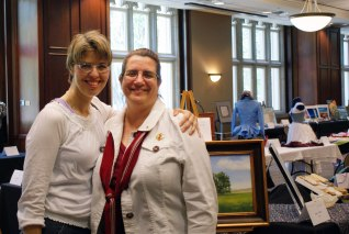 Me with Rebecca Bergfield, organizer of the MU Staff Arts and Crafts Showcase--and supportive friend!