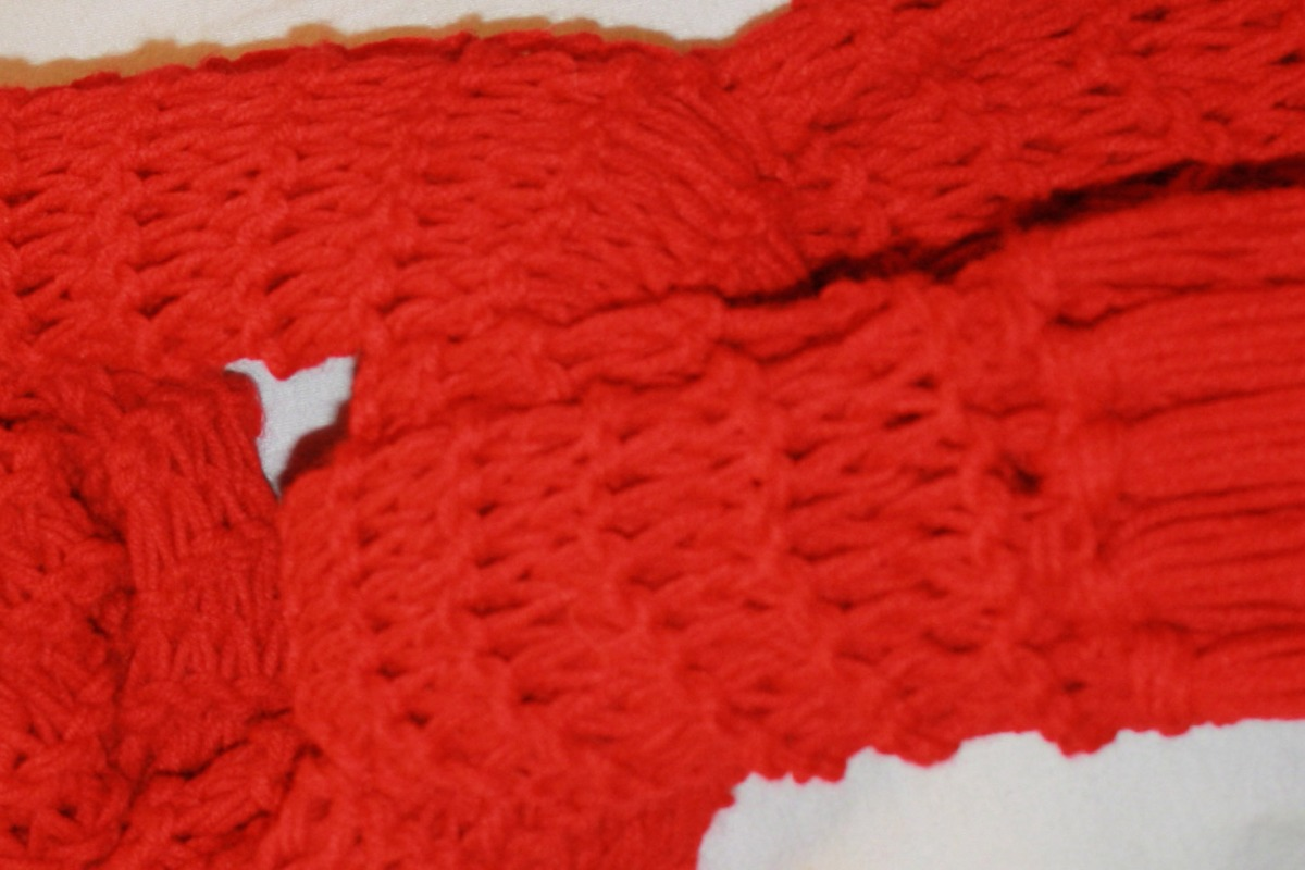 red scarf detail