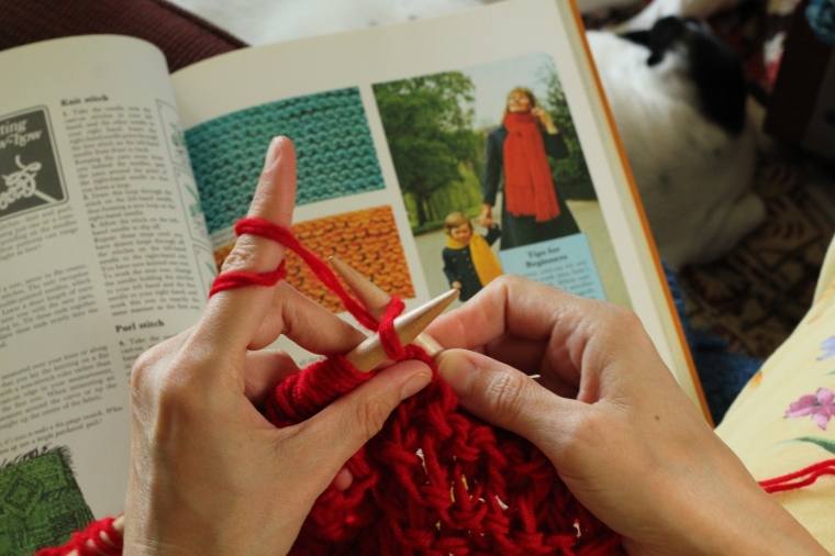 Getting inspired by the Creative Hands book. Photo by Derek Howard.