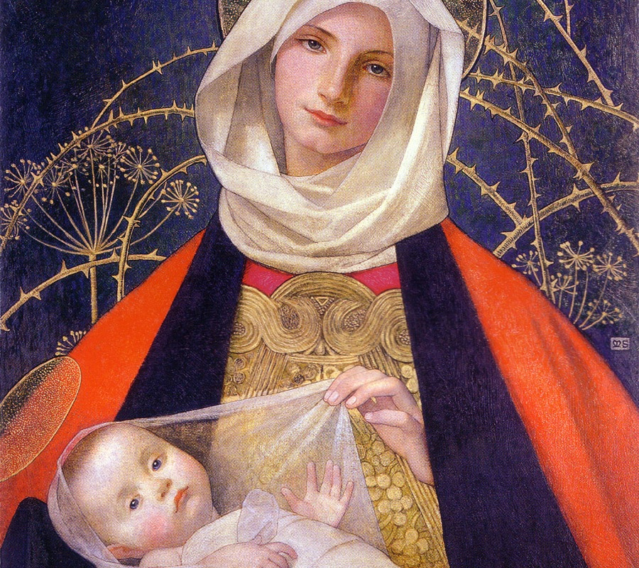 """Marianne Stokes Madonna and Child"" by Marianne Stokes"