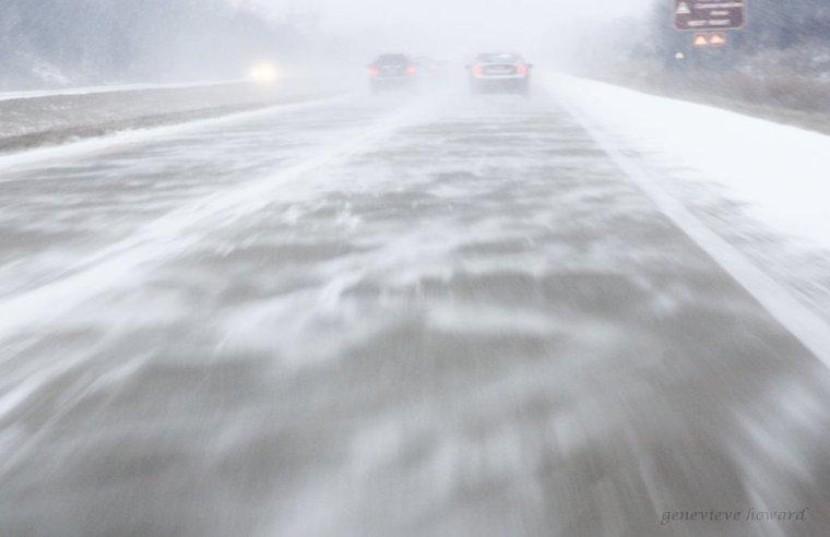 snow swirl highway
