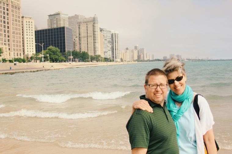 Logan and Genevieve Howard at Lake Michigan