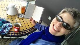 Tea on the balcony in Geneva