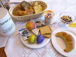 Breakfast in Bellnzona, Switzerland